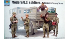 Modern U.S. soldiers  Logistic Supply Team