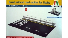 GUARD RAIL AND ROAD SECTION FOR DISPLAY