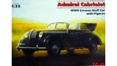 Admiral Cabriolet  WWII German Staff Car with Figures